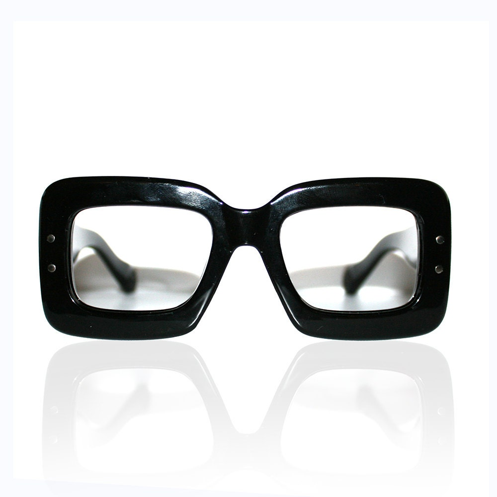 thick black framed glasses by lateroperator on etsy