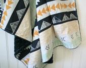Minky Baby Blanket - Arid Horizon - Personalization Available