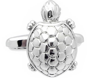 Good Luck Silver Turtle Cufflinks