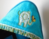 elephant hooded towel many colors available shower gift birthday gift
