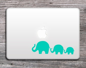 Elephants Vinyl Decal - Stickers for your car, laptop, notebook, cup , door , colors mint or pink – 032