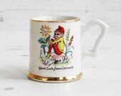 Vintage Pixie Drinking mug - 12 carrot gold Cornwall Cornish Drinking Display Kitchenware Decor
