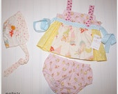 SALE Pocket Pixies Knot Top, Bloomers, and Bonnet 18-24 months