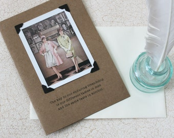 Funny Card for Women The Key To Our Enduring Friendship