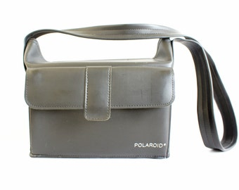 Vintage Black Soft Fold Top  Polaroid Camera Carry Case