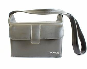 Vintage Black Soft Fold Top  Polaroid Camera Carry Case