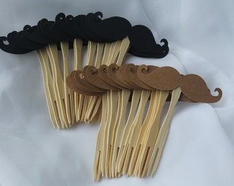 Mustache Cupcake picks