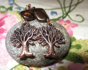 Lifetree Copper Earrings