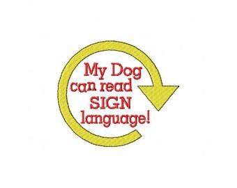 Dog Rally Tee Shirt - Sign Language