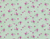 Verna Mosquera - Billet Doux - Rosebud in Spruce - BTY cotton quilting fabric