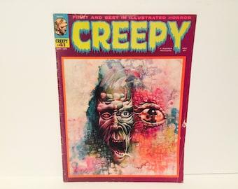 Vintage Horror Comic Book Magazine Creepy #41 September 1971 Warren Classics