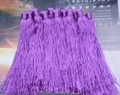 50 Purple tassels satin tassels Jewelry tassels for decorating Handmade tassels silk tassels Wholesale 5.5inch