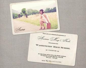 High school graduation invitation, 4x6, Graduation invitations, the Anastasia