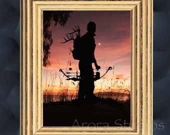 Archery Deer Hunting - End of a Good Day - Open Edition Original Art Print