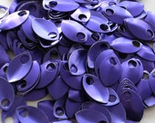 50 Purple Anodized Aluminum Scales Leaves Feathers