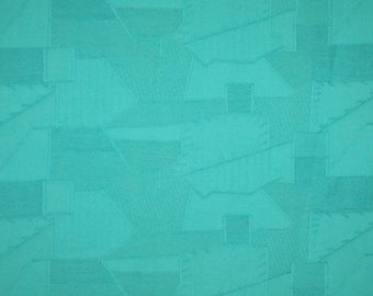 Light Teal Green Patchwork Design Pure Cotton Jacquard Fabric--One Yard