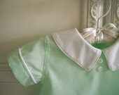 Mint Green Diaper Shirt and Shorts size 3 to 6 mo. Vintage Inspired, Baby Boys 2 Piece Easter Outfit, Baby Shirt and Diaper Cover