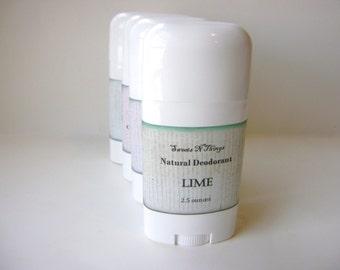 Lime Deodorant, Deoderant Stick, Natural Corn Free Formula