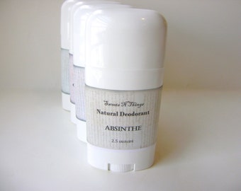 Absinthe Deodorant, Deoderant Stick, Natural Corn Free Formula, Anise and Herb scent