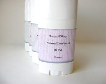 Rose Deodorant, Deoderant Stick, Natural Corn Free Formula