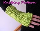 Knit Your Gifts! - Chunky Fingerless Glove Knitting Pattern for Advanced Beginner and Intermediate Knitters - Bulky Yarn Mittens DIY Pattern