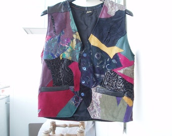 Fleet mens - leather VEST... also for bikers... to order!