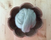 Wool roving supply for needle felting, Pastel Green Heather, 1/2 ounce or 1 ounce, light green wool, light green roving, felting wool