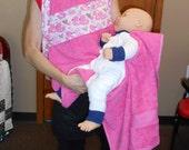 Pink Duckies B'apron Baby Bath Apron
