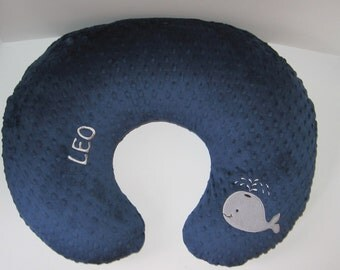 Boppy Cover, Bobby Cover, Boppy Slipcover, Whale, Nautical, Minky Boppy Cover, Baby Shower, Gift, Nursing Pillow Cover, Baby Boy, Baby Girl