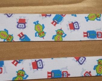 7/8 inch and 1.5 inch robot ribbon