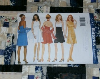 1998 Butterick Pattern 5457 for Misses Dress and Scarf Size  6, 8, 10,  Uncut