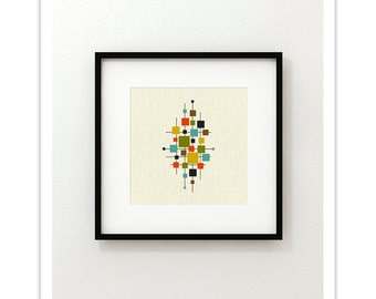 AREA Square Version - Giclee Print - Mid Century Modern Danish Modern Minimalist Cubist Modernist Abstract Eames