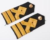 Vintage navy officer uniform shoulder boards.