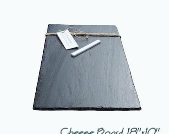 18 x 10  Slate Cheese Board with Soapstone Chalk