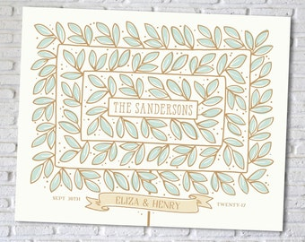 Wedding Tree Guest Book Alternative, Custom Art Print // BOXWOOD