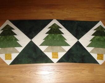 Pine Tree Christmas Table Runner