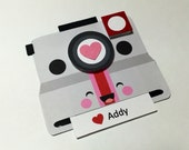 Camera Valentine card, classroom valentines, Kawaii camera valentine, personalized message, set of 12