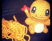Charmander Inspired Crochet Doll - OOAK