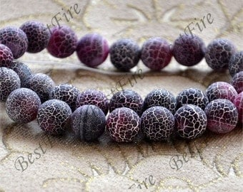 Charm 12mm red and Black Weathered Agate stone Beads ,agate round stone beads loose strands,beads stone agate