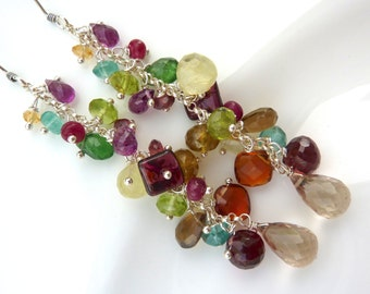 Carnival Cascade Gemstone Earrings- Over 10 different gemstones!