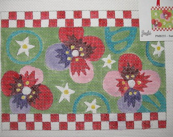 Floral Purse Front Needlepoint Canvas*