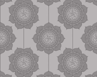 The Cottage Garden - Cottage Wallpaper Gray - 1/2 Yard - The Quilted Fish for Riley Blake Designs - C4222-GRAY