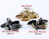 10Pcs High quality Nickel Free Vintage Antiqued Silver Antiqued Bronze   Raw Brass Pendant Bail  ( JUR-414.415.418)