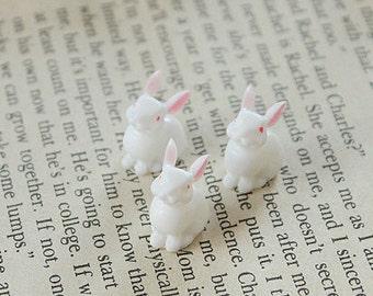 10pcs cute rabbits Resin Cabochon --(CAB-BQ-35)