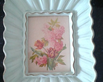 Three Vintage frames with flowers