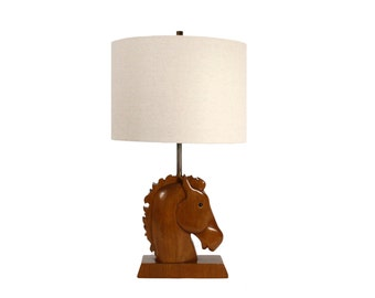 Horse Head Lamp - Vintage