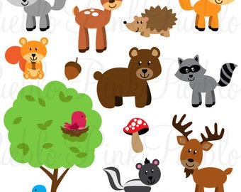 Forest Animals SVGs, Woodland Animals Cutting Templates - Commercial and Personal Use
