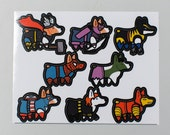 Small Super Corgi vinyl stickers - one team of superhero corgi dogs