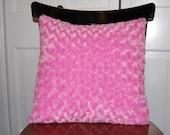 Funky, Fluffy, Super Soft, Rosebud Swirl Pillow, Baby Pink Fuzzy Pillow
