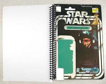 Death Dquad Commander Recycled Vintage Star Wars Notebook/Journal